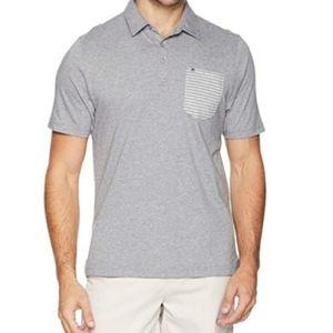 Travis Mathew Gray Tuk Tuk Golf Polo Shirt Large
